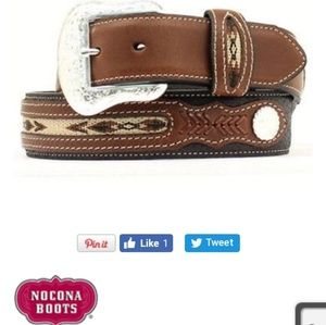 🆕️Nocona Men's Two Tone Leather Belt